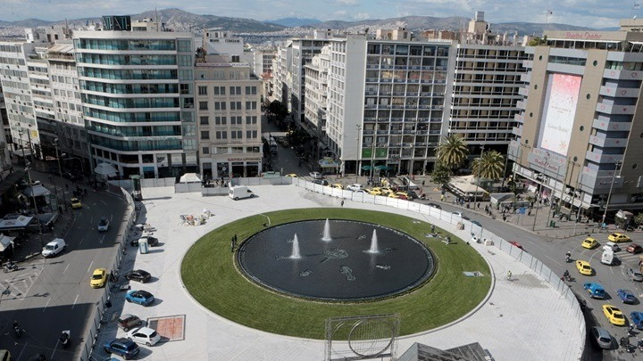 Reconstruction of Omonia Square complete by next week