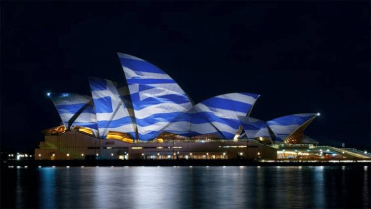 Australia Approves Projecting Greek Flag on Sydney Opera House