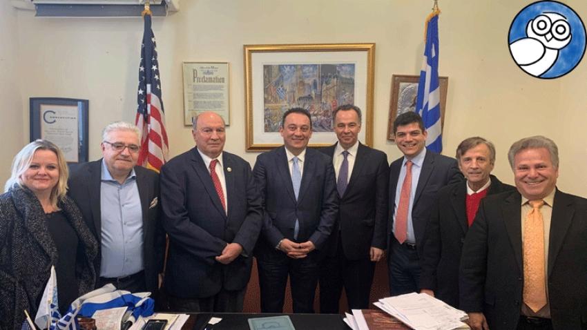 Ο υφυπουργός Εξωτερικών Κ. Βλάσης και ο Κ. Μεϊμάρογλου στο Hellenic Daily News